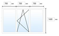 Эконом. Трехстворчатое окно (2100x1400) - фото 4481