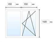 Эконом. Двустворчатое окно (1300x1400)