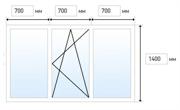 Эконом. Трехстворчатое окно (2100x1400)