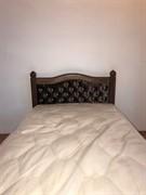 Кровать ЛДСП - коричневая